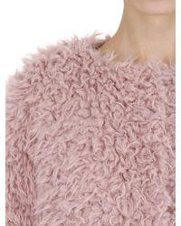 Colmar - Pink Reversible Nylon & Faux Fur Down Jacket - Lyst