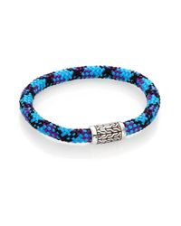 John Hardy Blue Classic Chain Sterling Silver Sailing Cord Station Bracelet