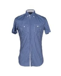 Paolo Pecora - Blue Shirt for Men - Lyst