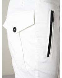 DSquared² - White Cropped Trousers for Men - Lyst