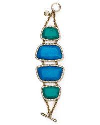 Carolee Blue Barcelona Baubles Bracelet