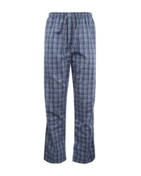 Derek Rose | Blue Charcoal Checked Pyjama Trousers | Lyst