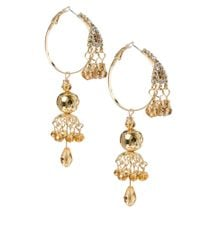 ASOS - Metallic Hoop Detail Chandelier Earring - Lyst