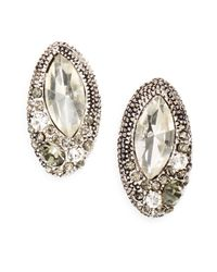 Saks Fifth Avenue | Metallic Oval Sparkle Cluster Earrrings | Lyst