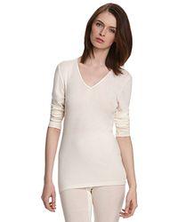 Hanro | Black Woolen Silk Basic Long Sleeve Shirt | Lyst