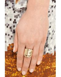 Givenchy Metallic Buckle Ring In Gold-Tone Brass