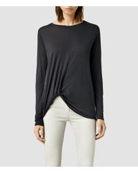 AllSaints | Black Cann Long Sleeve Tee | Lyst