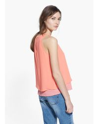 Mango Pink Double-Layer Top