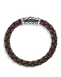 David Yurman - Metallic Chevron Bracelet In Brown for Men - Lyst