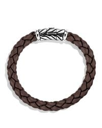 David Yurman | Metallic Chevron Bracelet In Brown for Men | Lyst