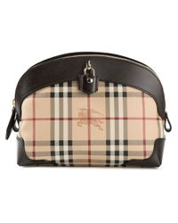 Burberry - Natural 'Haymarket Check' Shoulder Bag - Lyst