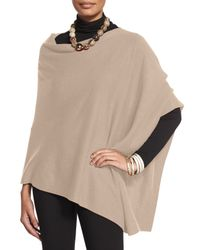 Eileen Fisher - Brown Cozy Wool Poncho - Lyst