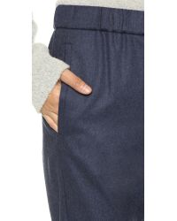 Theory - Akron Thorene Wool Pull On Pants - Blue Melange - Lyst
