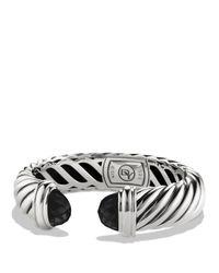 David Yurman Metallic Waverly Bracelet With Black Onyx
