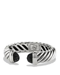 David Yurman - Metallic Waverly Bracelet With Black Onyx - Lyst