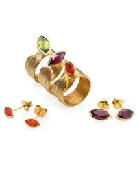Ilene Steele Jewellery - Metallic Large Wave Ring Fire Opal - Lyst