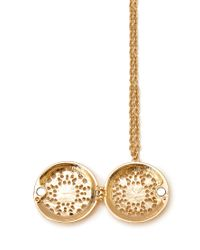 Forever 21 - Metallic Filigree Locket Necklace - Lyst