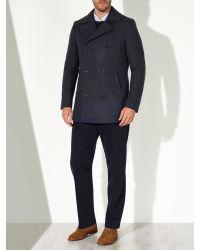 John Lewis Blue Buckle Neck Jacket for men