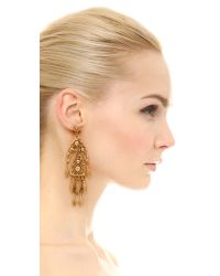 Ben-Amun - Metallic Dreamcatcher Chandelier Earrings - Lyst