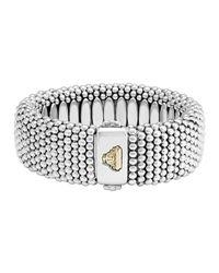Lagos | Metallic Wide Caviar Bracelet | Lyst