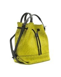 Opening Ceremony Yellow Izzy Wrinkled Leather Backpack
