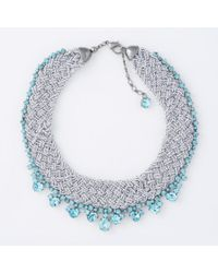 Paul Smith | Blue Women's Teal Beaded And Tanzanite 'cleopatra' Necklace | Lyst