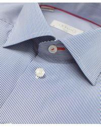 Eton of Sweden | Blue Slim Fit Striped Shirt for Men | Lyst