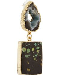 Dara Ettinger | Green Chastity Gold-plated Earrings | Lyst