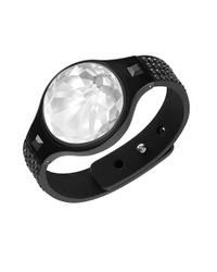 Swarovski | Black Shine Cleyera Wristband Tracker Bracelet | Lyst
