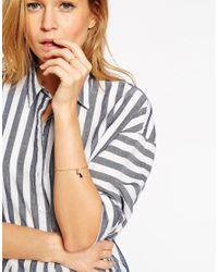 ASOS | Black Fine Bead Open Cuff Bracelet | Lyst