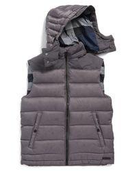 Burberry Brit - Gray 'fitzroy' Down Vest for Men - Lyst