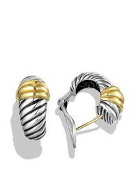 David Yurman - Metallic Cable Classics Earrings With Gold - Lyst