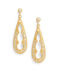 Freida Rothman - Yellow Cutout Teardrop Earrings - Lyst