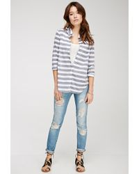 Forever 21 - Black Classic Striped Shirt - Lyst