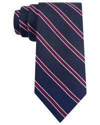 Tommy Hilfiger | Blue Navy Ground Stripe Slim Tie for Men | Lyst