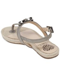 Vince Camuto Gray Arabell Espadrille Flat Thong Sandals