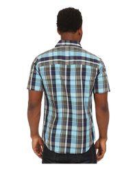 Volcom - Blue Parson Short Sleeve Woven for Men - Lyst