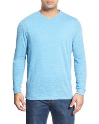 Tommy Bahama | Blue 'sunday's Best' Long Sleeve V-neck T-shirt for Men | Lyst