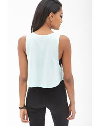 Forever 21 - Green Palm Tree Flared Tank You've Been Added To The Waitlist - Lyst