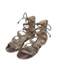 TOPSHOP Gray Heaven Gladiator Sandals