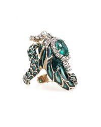 Roberto Cavalli Multicolor Crystal-embellished Ring