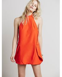 Free People - Red Shadow Wins Dress - Lyst