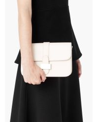Mango | White Buckle Cross-body Bag | Lyst