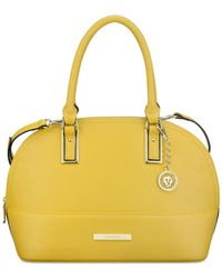 Anne Klein | Yellow Shimmer Down Large Dome Satchel | Lyst