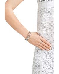 Marc By Marc Jacobs - Metallic Disc-o Happy House Cuff Bracelet - Silver - Lyst