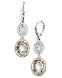 Judith Jack | Metallic Two Tone Circle Drop Earrings | Lyst
