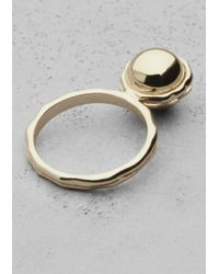 & Other Stories - Metallic Ball Ring - Lyst