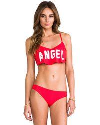 Wildfox | Angel Tankini Top in Red | Lyst