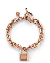 Michael Kors | Pink Mkj3313791 Womens Toggle Bracelet | Lyst