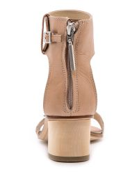 Dolce Vita Natural Foxie Low Heel Sandals